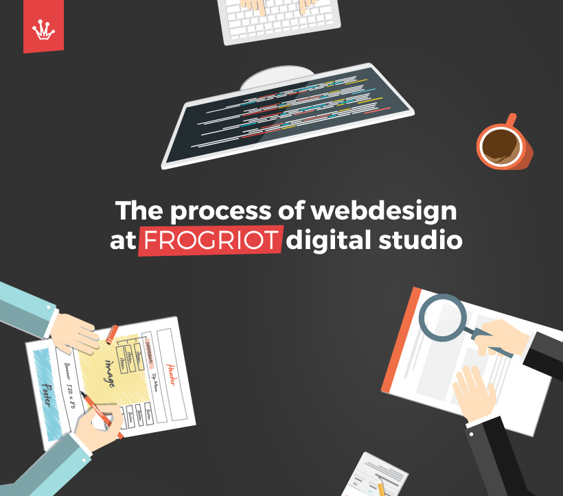 The process of webdesign at FROGRIOT digital studio