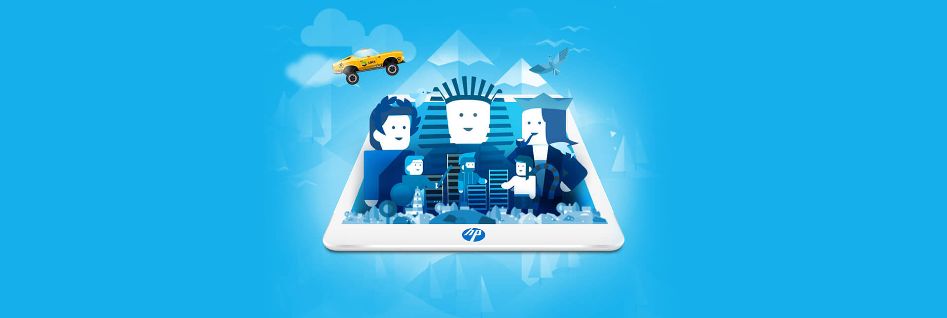 HP ALL FLASH - INTERACTIVE ANIMATED WEBSITE