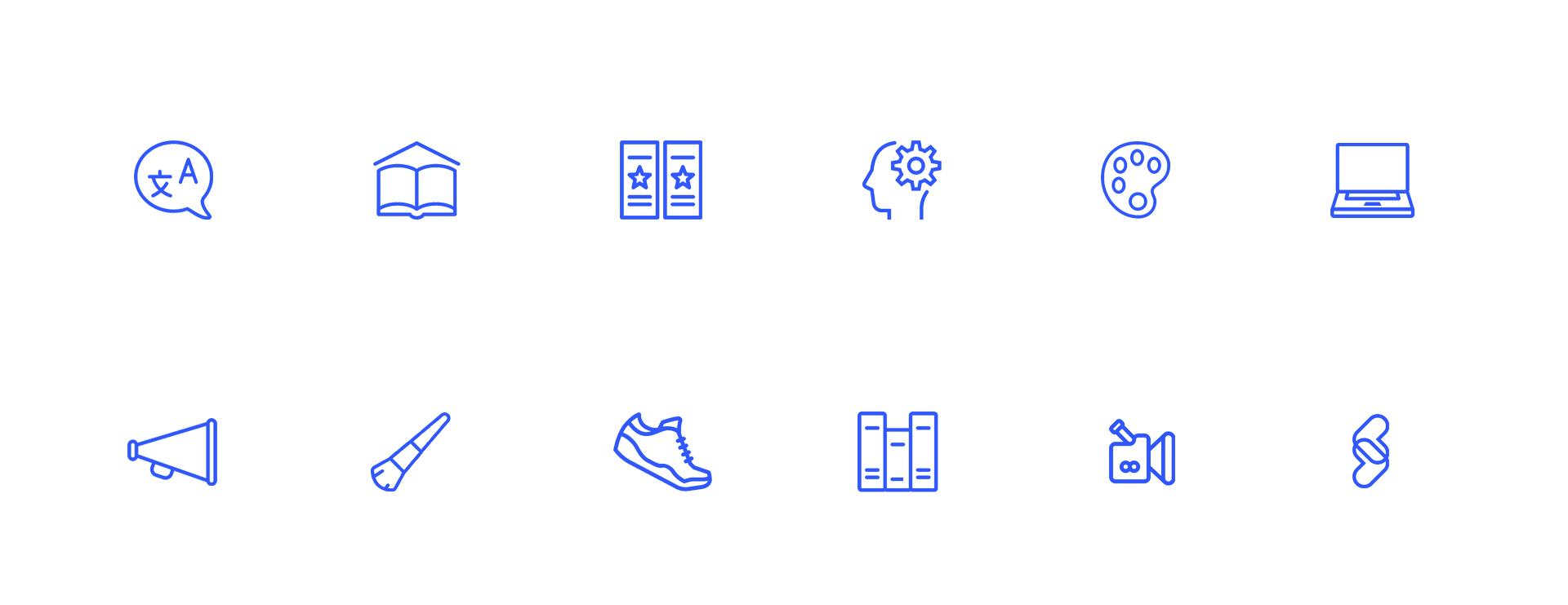 ikonografia stworzona dla marki Skillsy przez agencję interaktywną FROGRIOT